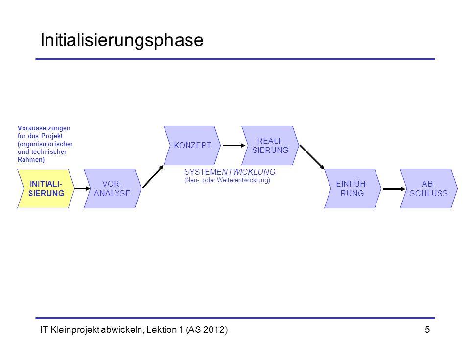 Initialisierungsphase