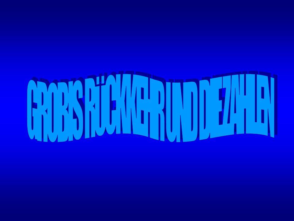 GROBIS RÜCKKEHR UND DIE ZAHLEN