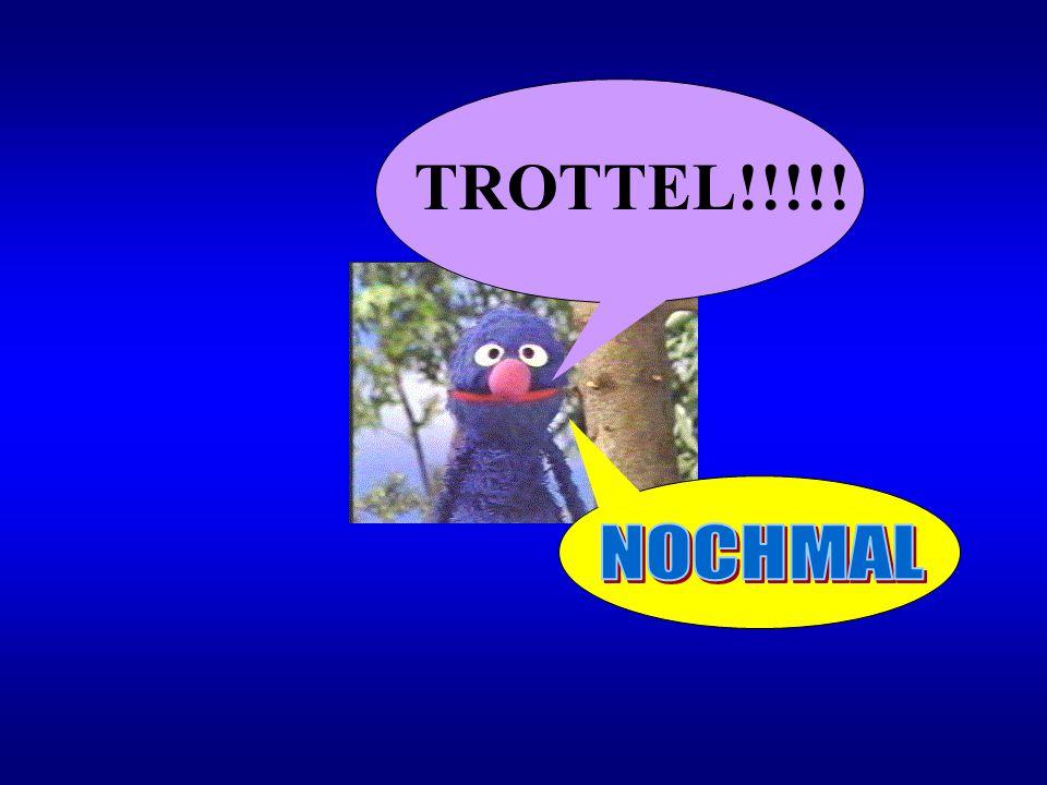TROTTEL!!!!! NOCHMAL