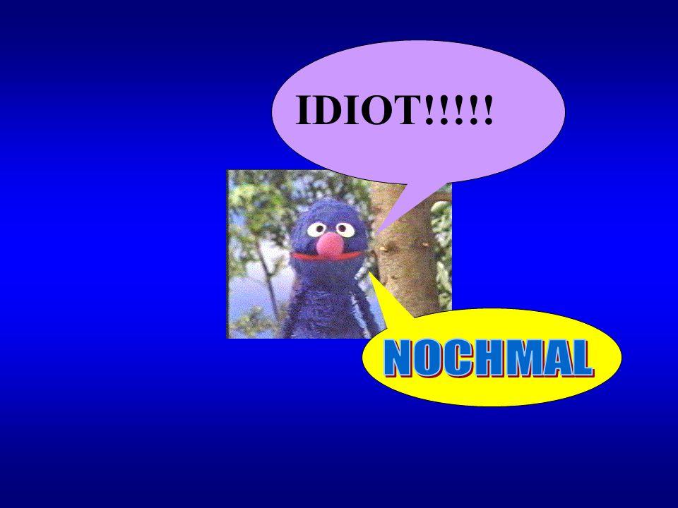 IDIOT!!!!! NOCHMAL