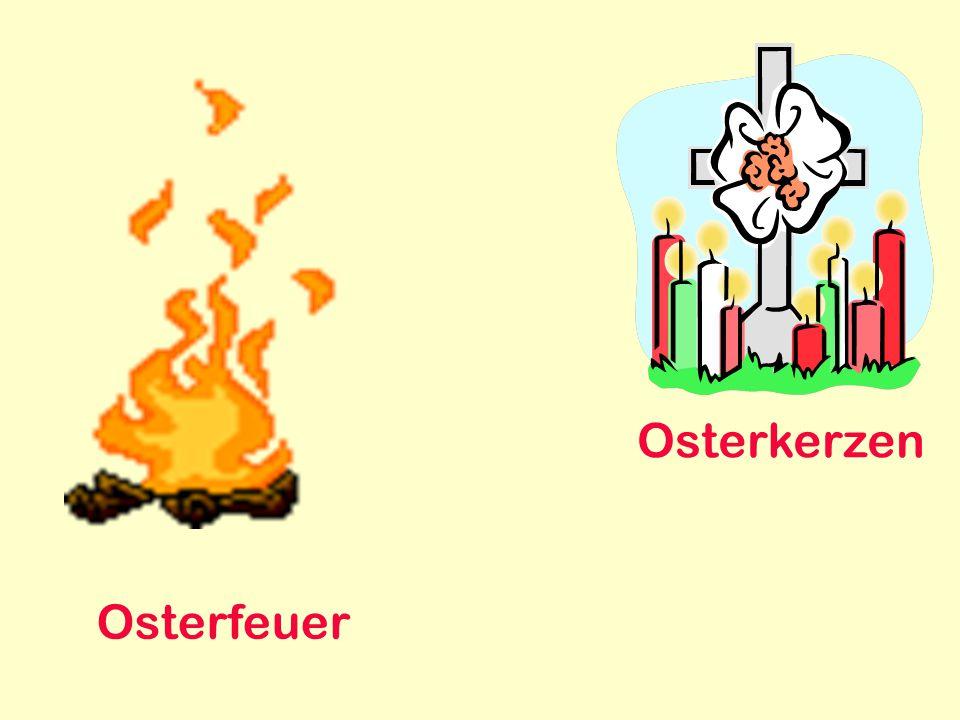 Osterkerzen Osterfeuer