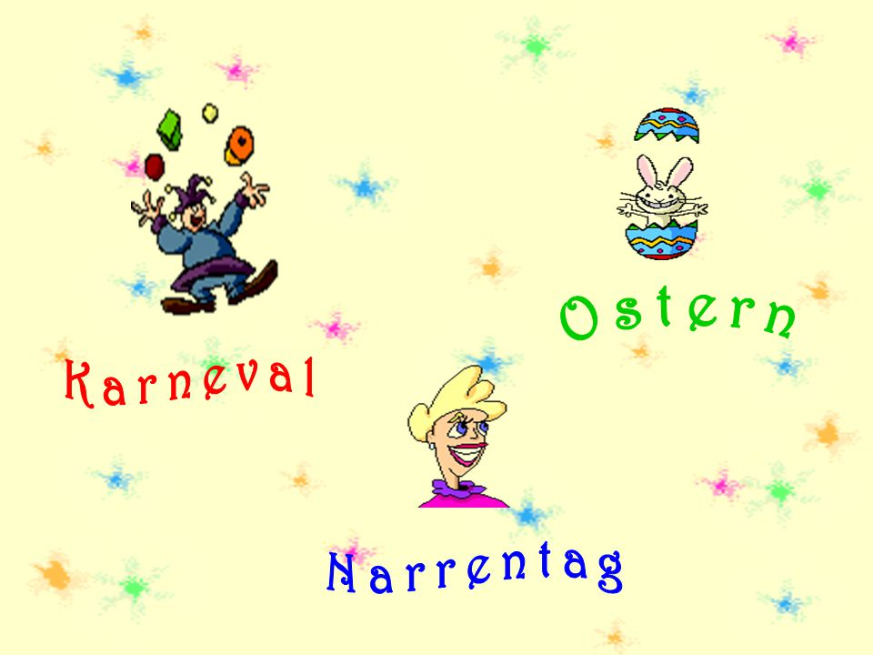 Ostern Karneval Narrentag
