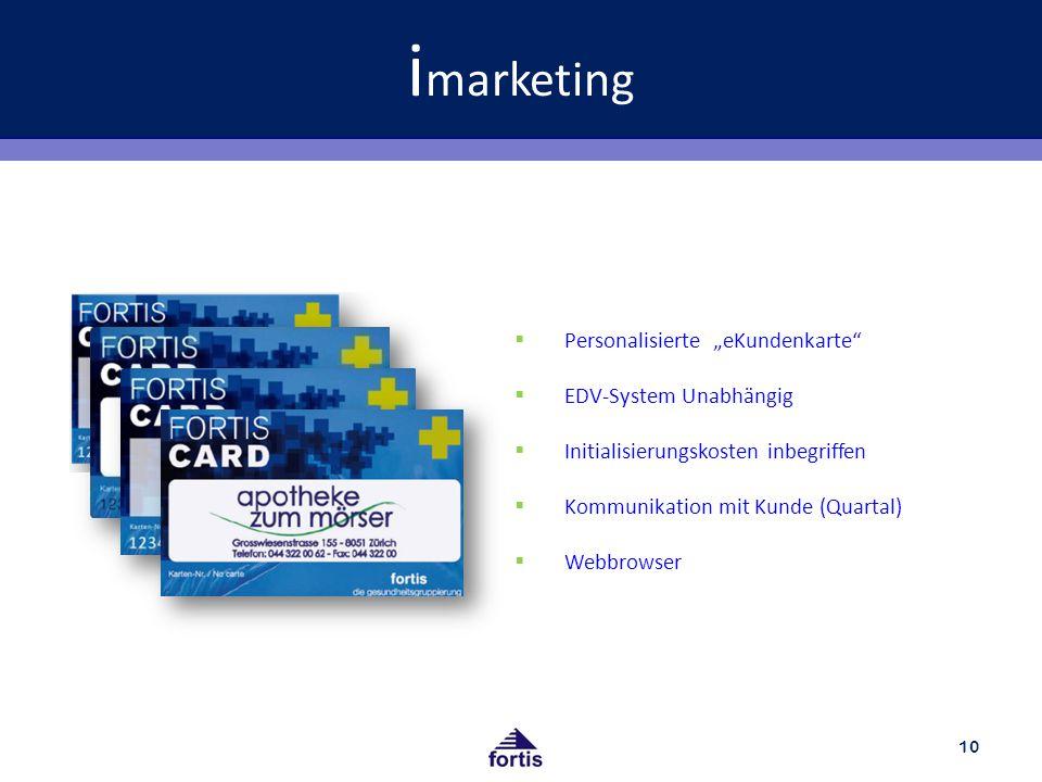 "imarketing Personalisierte ""eKundenkarte EDV-System Unabhängig"