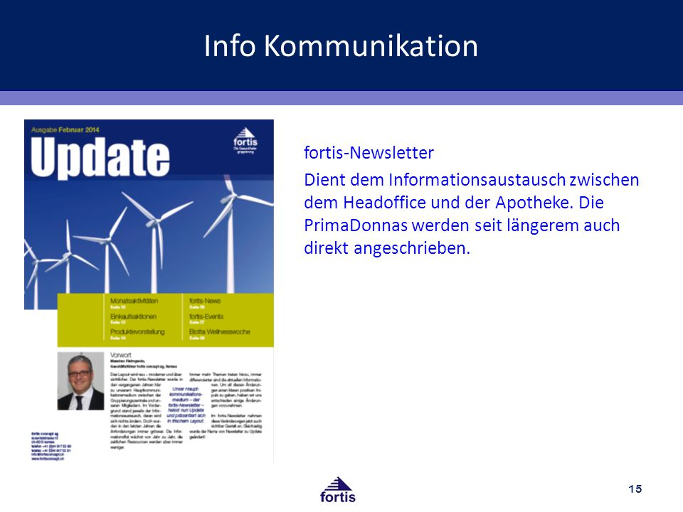 Info Kommunikation fortis-Newsletter