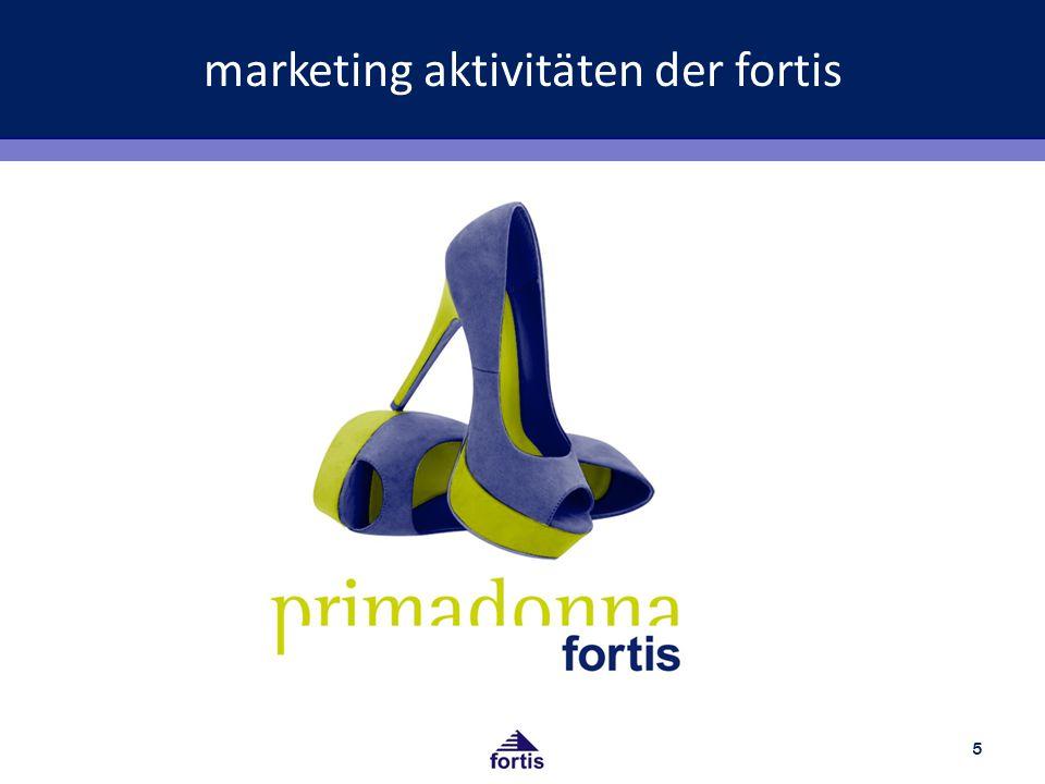 marketing aktivitäten der fortis