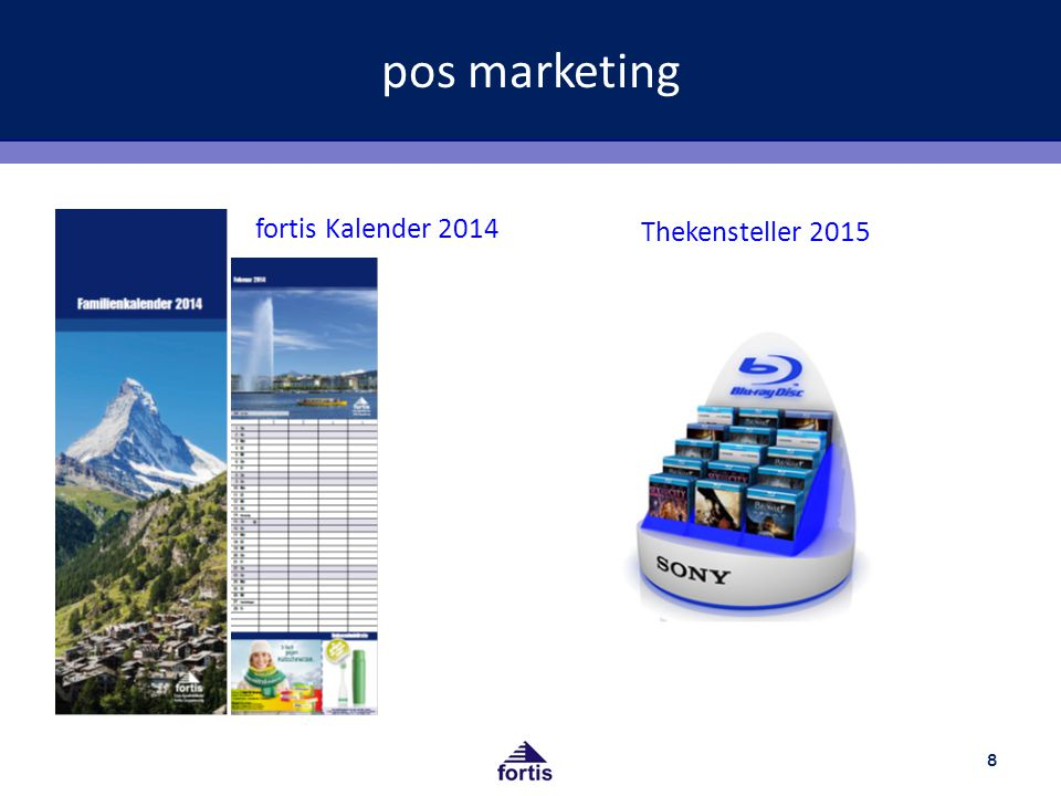 pos marketing fortis Kalender 2014 Thekensteller 2015