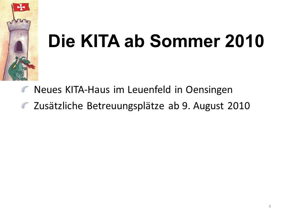 Die KITA ab Sommer 2010 Neues KITA-Haus im Leuenfeld in Oensingen