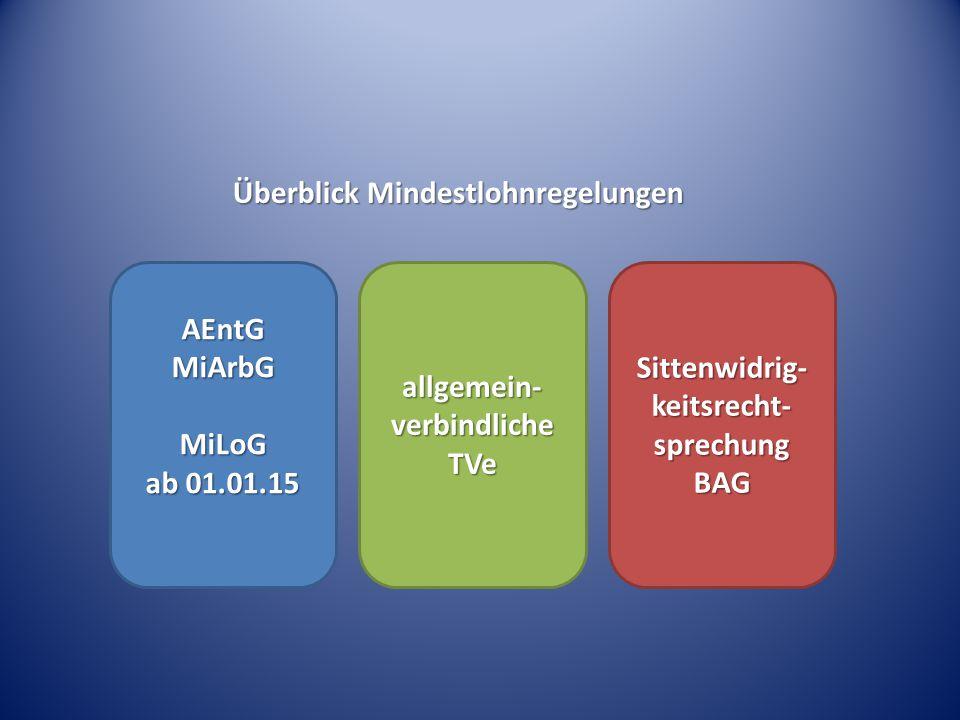 allgemein-verbindliche TVe Sittenwidrig-keitsrecht-sprechung BAG