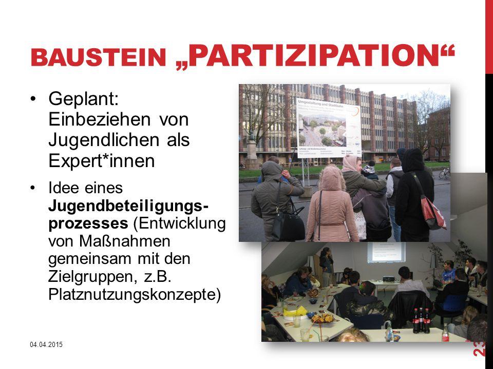 "Baustein ""Partizipation"
