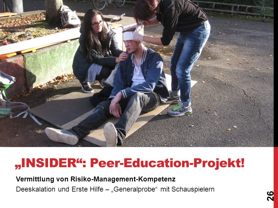 """Insider - Peer-Education-Projekt!"