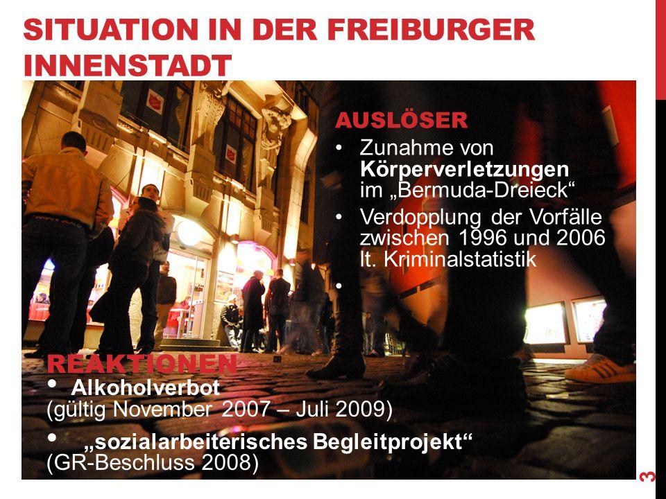 Situation in der Freiburger Innenstadt