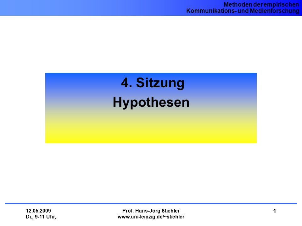 Prof. Hans-Jörg Stiehler