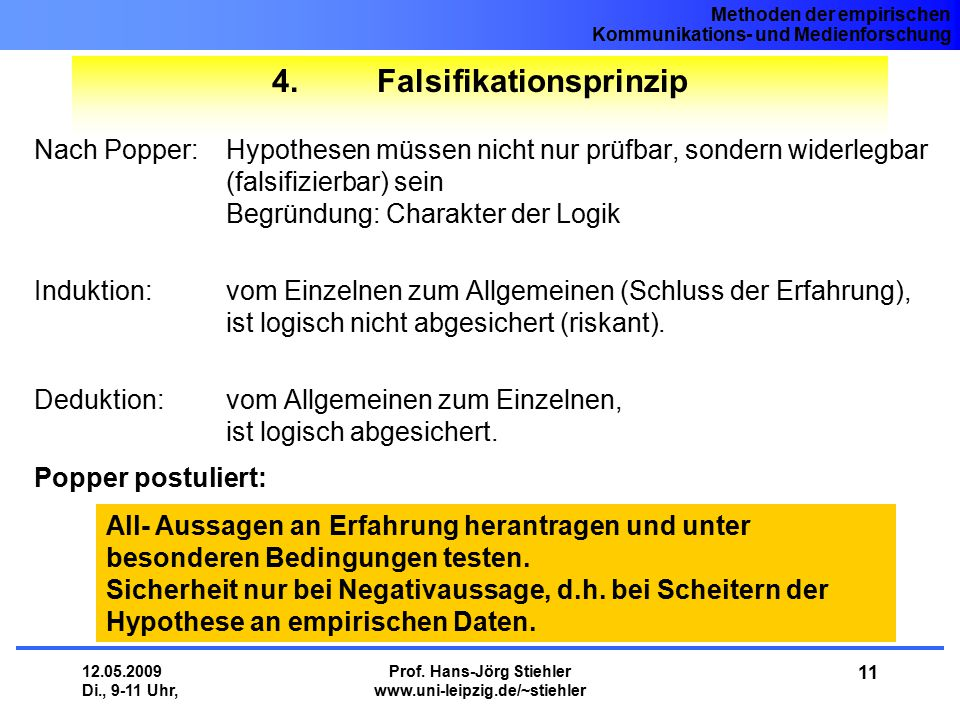 4. Falsifikationsprinzip