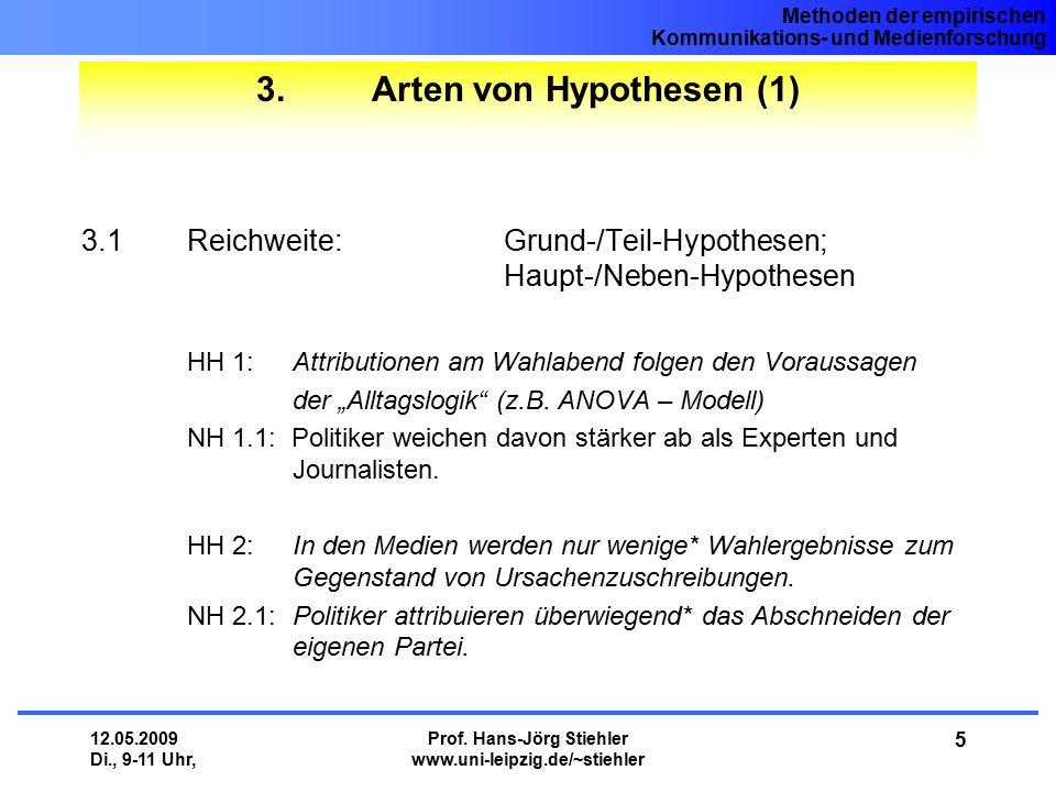 3. Arten von Hypothesen (1)