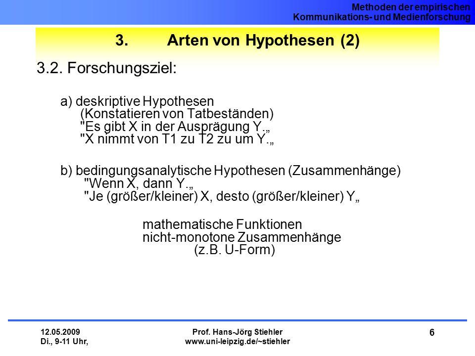 3. Arten von Hypothesen (2)