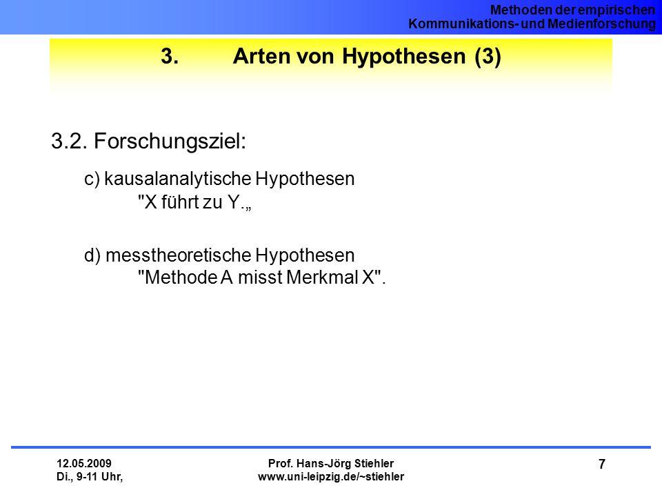 3. Arten von Hypothesen (3)