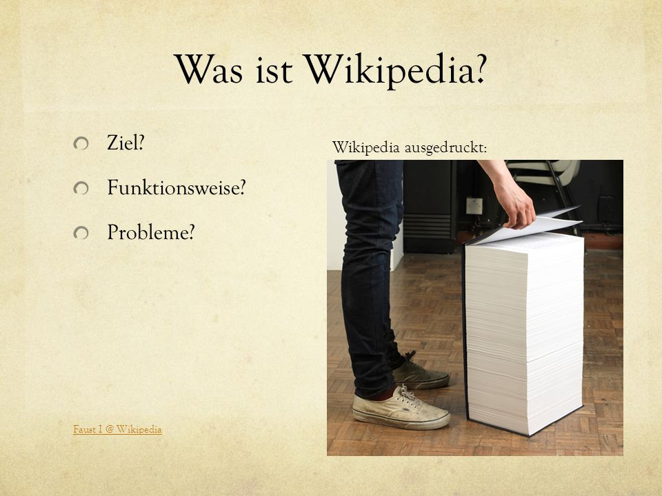 Was ist Wikipedia Ziel Funktionsweise Probleme