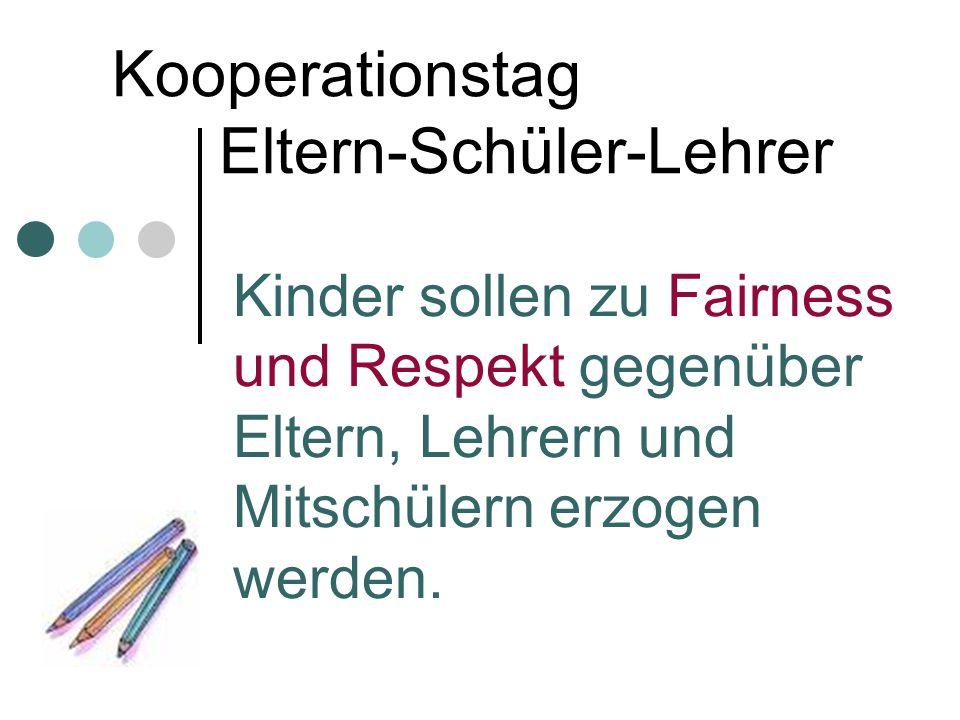 Kooperationstag Eltern-Schüler-Lehrer