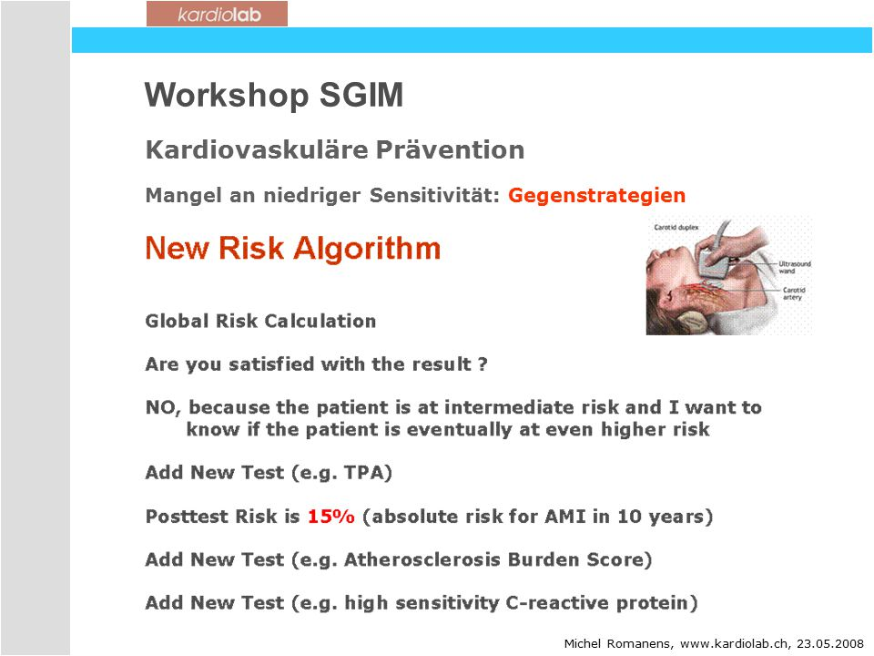 Workshop SGIM Kardiovaskuläre Prävention