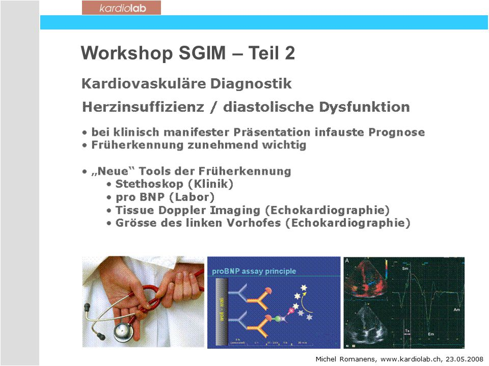 Workshop SGIM – Teil 2 Kardiovaskuläre Diagnostik 20