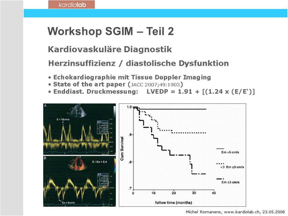 Workshop SGIM – Teil 2 Kardiovaskuläre Diagnostik 21