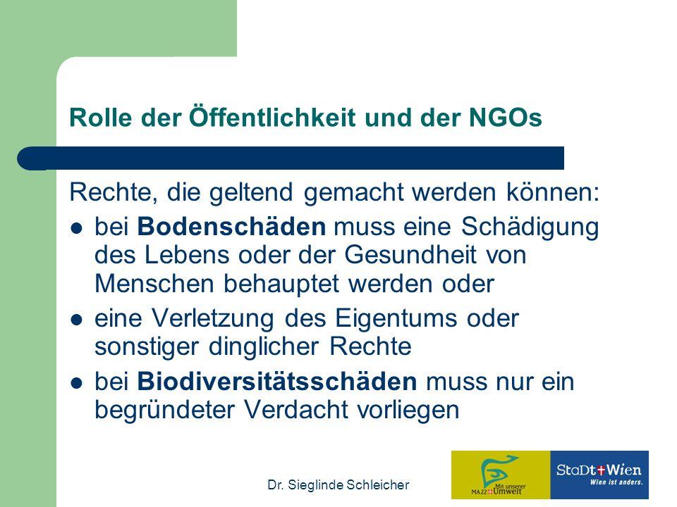 Rolle der Öffentlichkeit und der NGOs