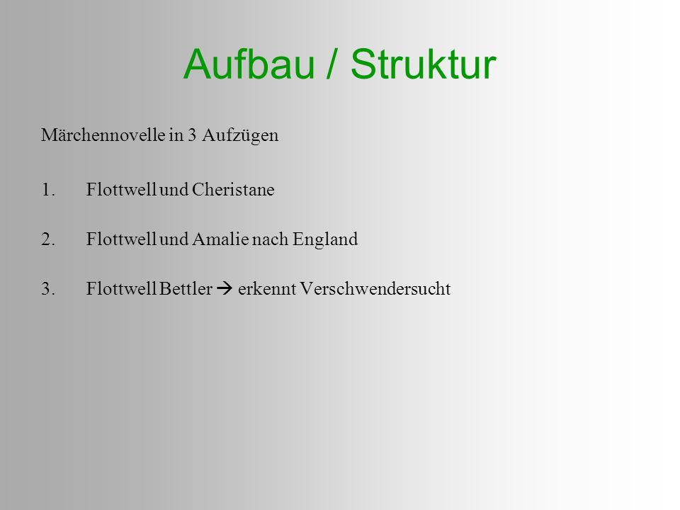 Aufbau / Struktur Märchennovelle in 3 Aufzügen