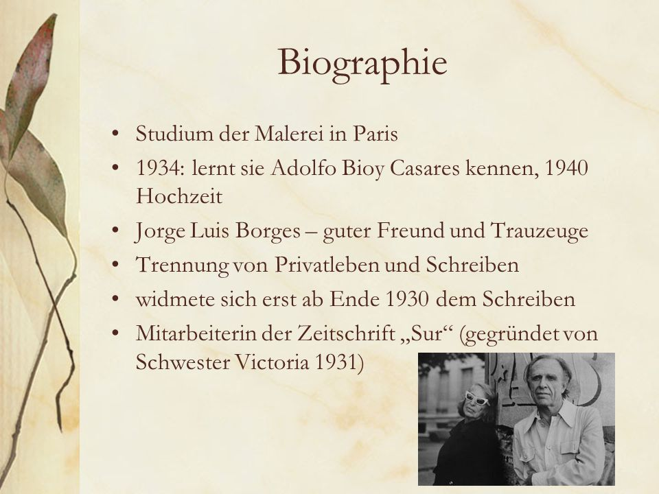 Biographie Studium der Malerei in Paris
