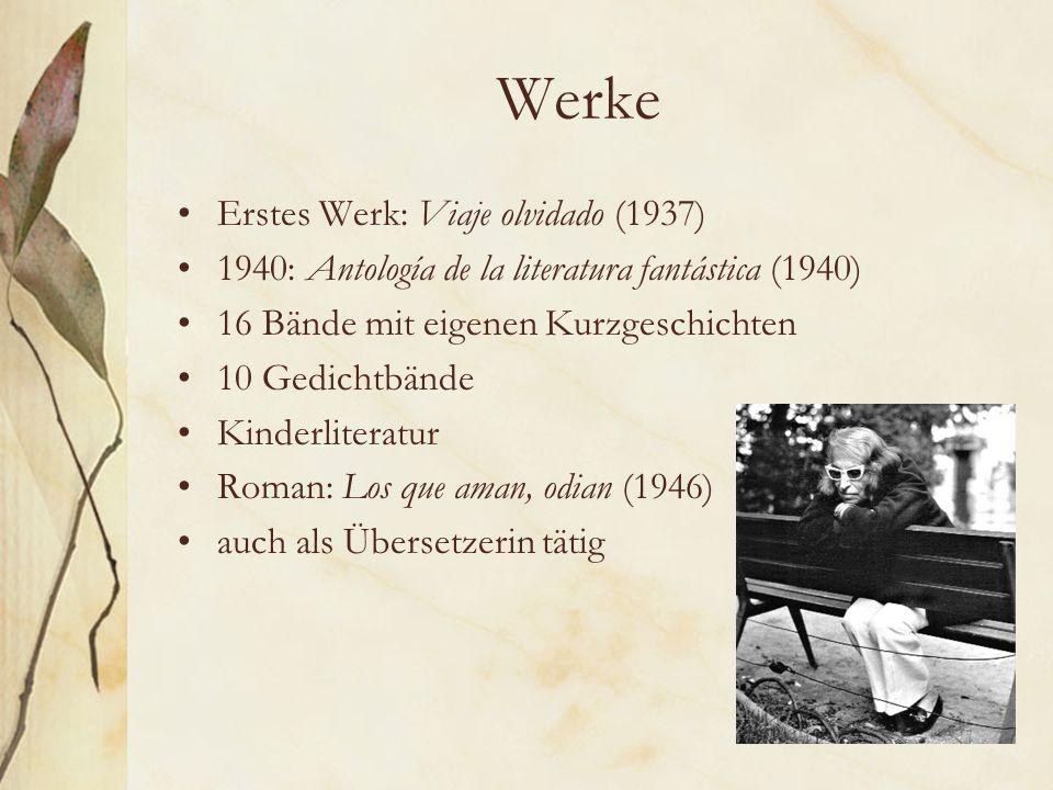 Werke Erstes Werk: Viaje olvidado (1937)