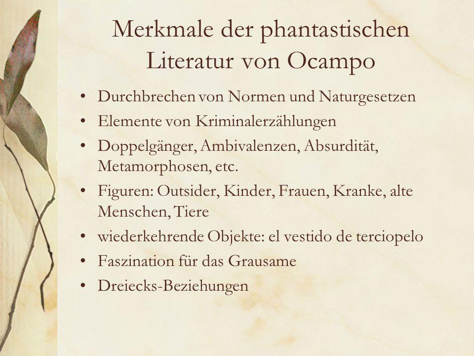 Merkmale der phantastischen Literatur von Ocampo
