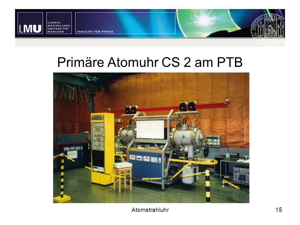 Primäre Atomuhr CS 2 am PTB