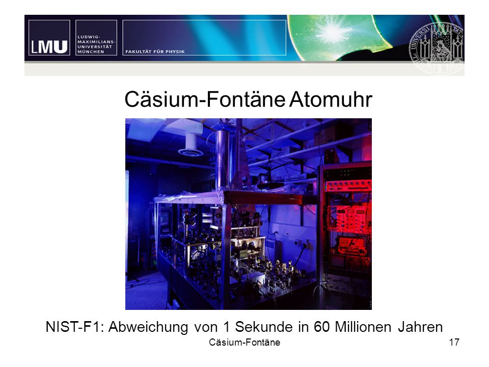 Cäsium-Fontäne Atomuhr