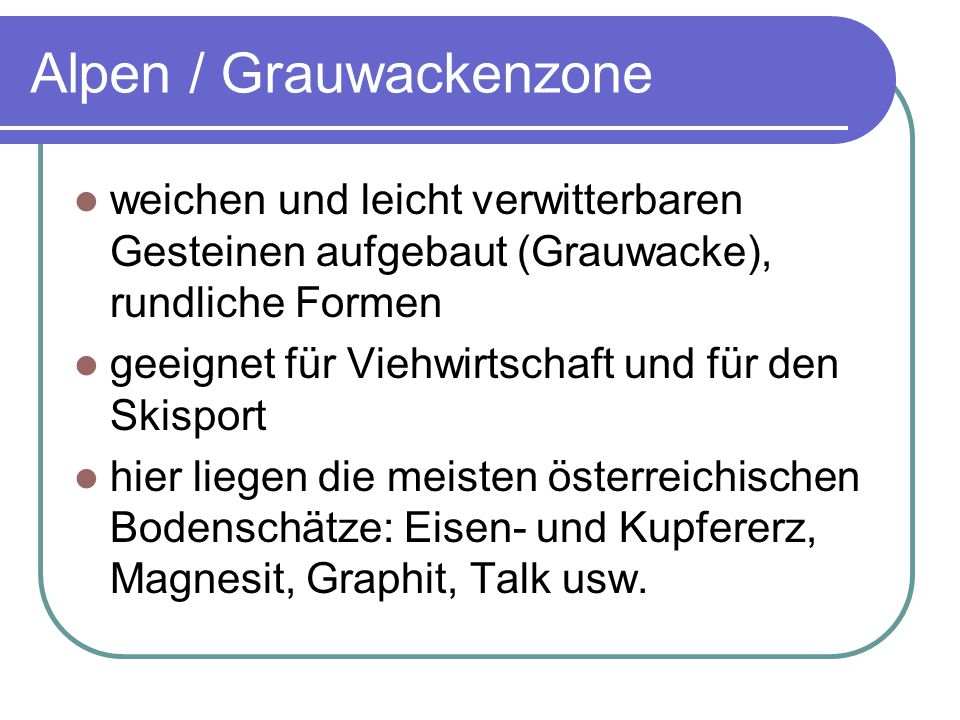 Alpen / Grauwackenzone
