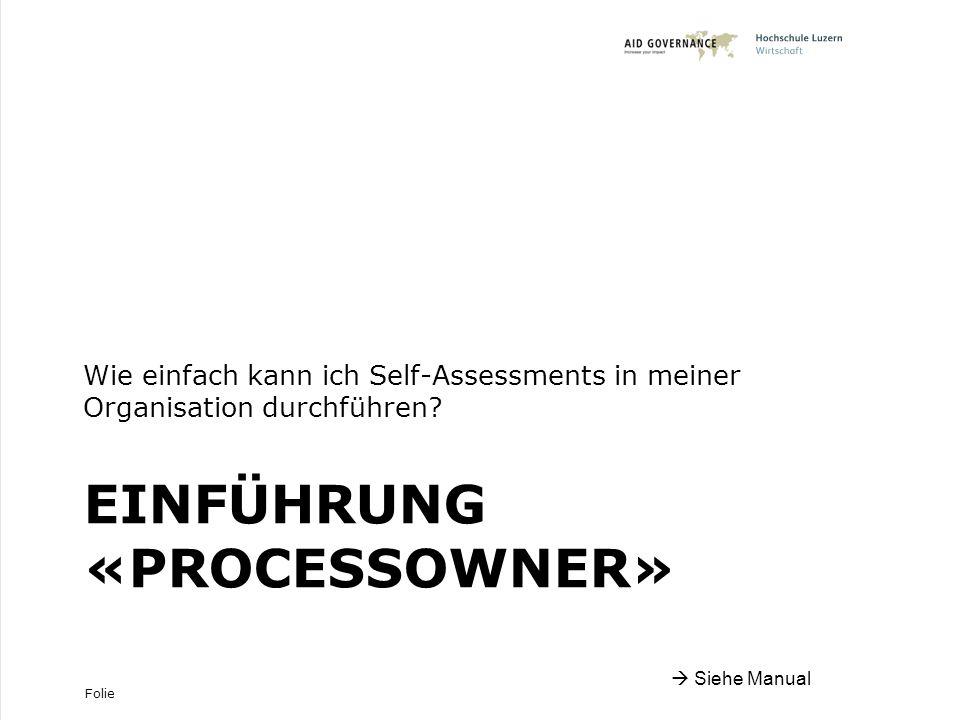 Einführung «ProcessOwner»