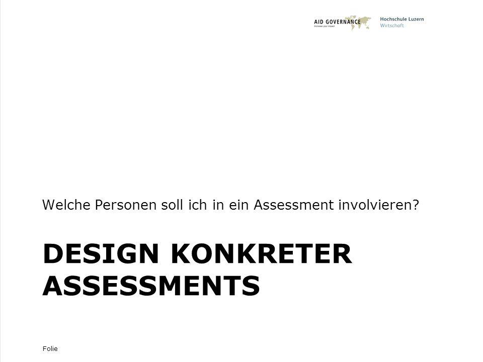 Design konkreter Assessments
