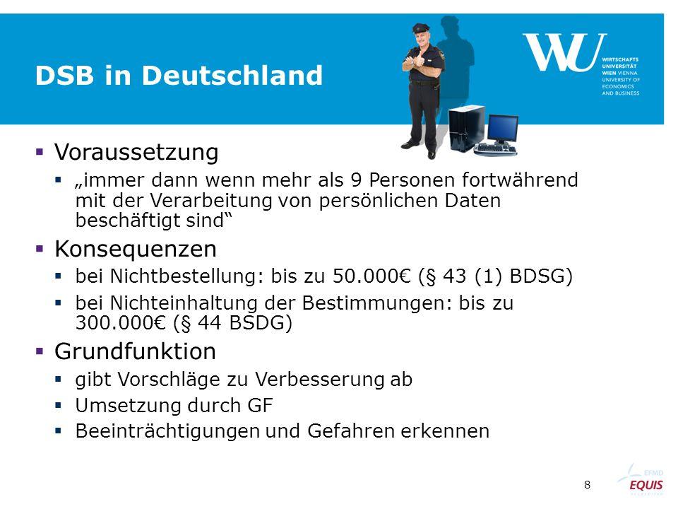 DSB in Deutschland Voraussetzung Konsequenzen Grundfunktion