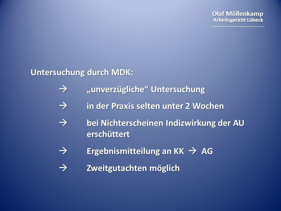 Untersuchung durch MDK: