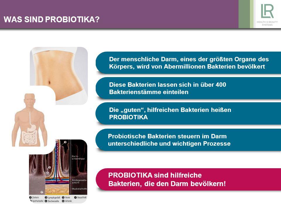 WAS SIND PROBIOTIKA Der menschliche Darm, eines der größten Organe des Körpers, wird von Abermillionen Bakterien bevölkert.