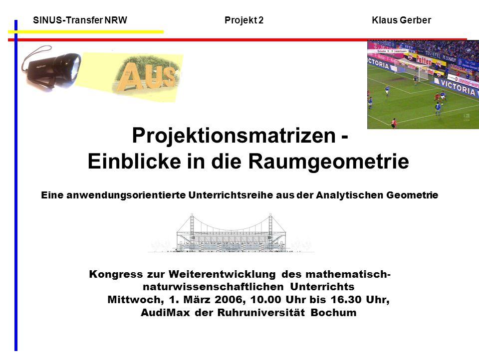 SINUS-Transfer NRW Projekt 2 Klaus Gerber