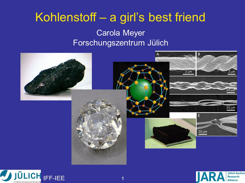 Kohlenstoff – a girl's best friend
