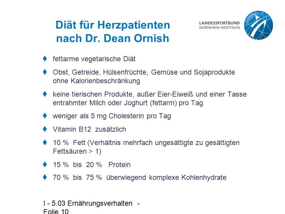 Diät für Herzpatienten nach Dr. Dean Ornish
