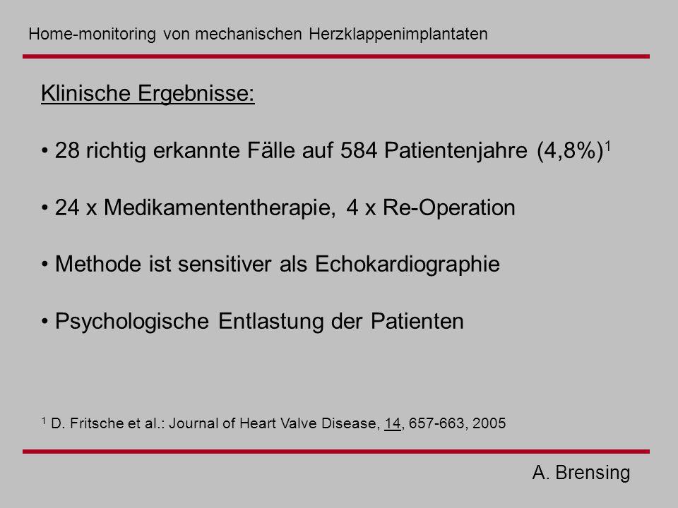 Klinische Ergebnisse: