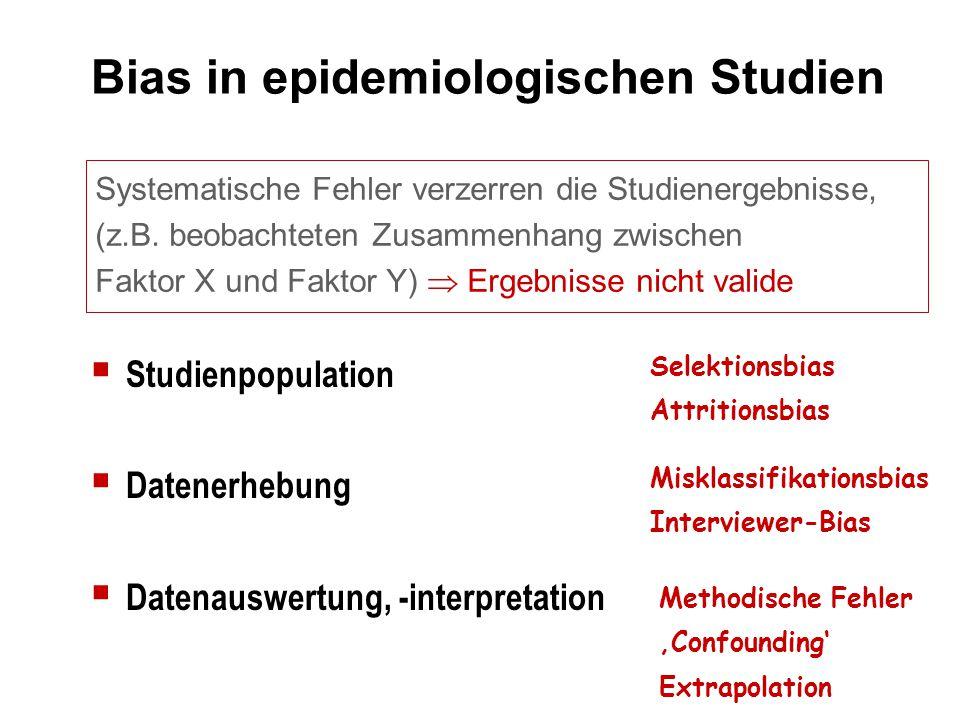 Bias in epidemiologischen Studien