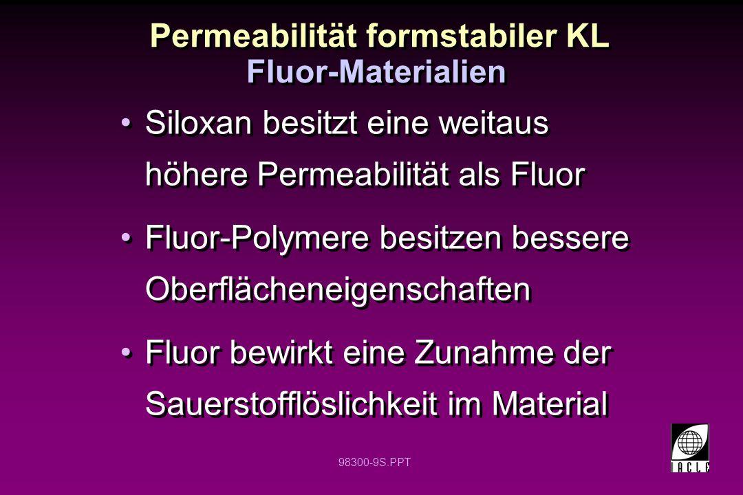 Permeabilität formstabiler KL