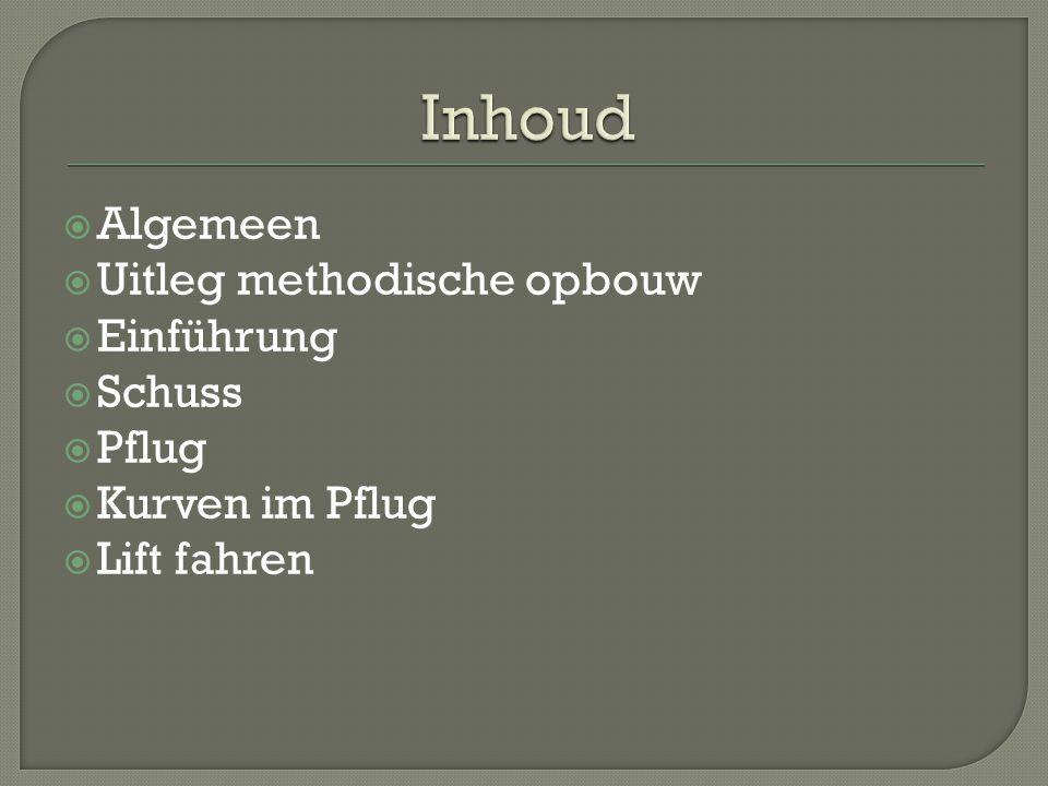 Inhoud Algemeen Uitleg methodische opbouw Einführung Schuss Pflug