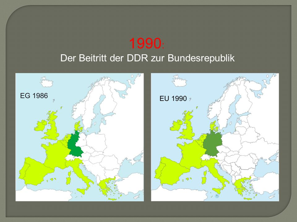 Der Beitritt der DDR zur Bundesrepublik