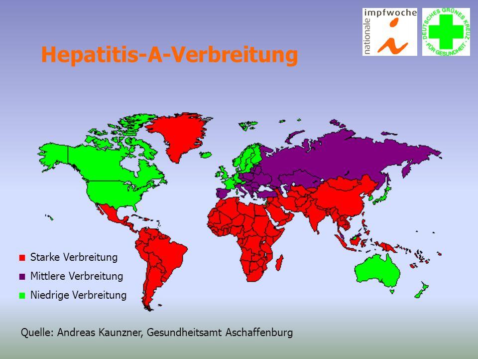 Hepatitis-A-Verbreitung