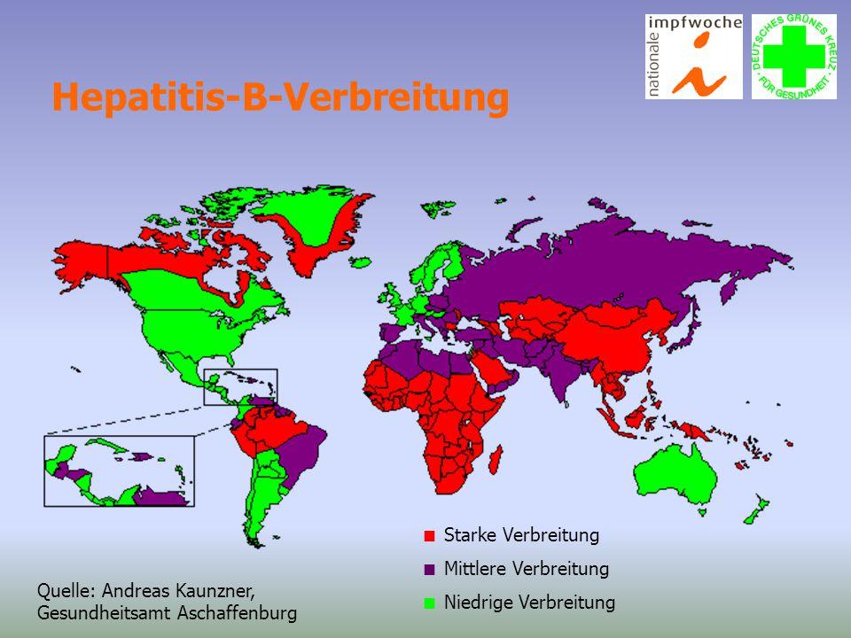 Hepatitis-B-Verbreitung
