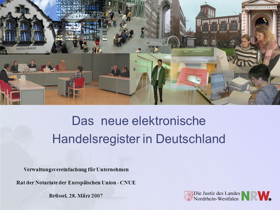 Das neue elektronische Handelsregister in Deutschland