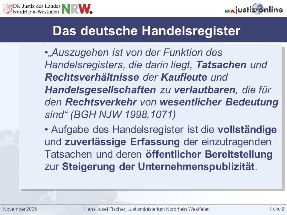Das deutsche Handelsregister